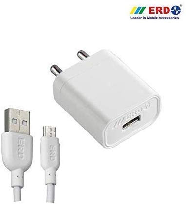 VT ERD 5V 2A Fast Charger with 1 m USB Cable for All Android Smartphones (White)