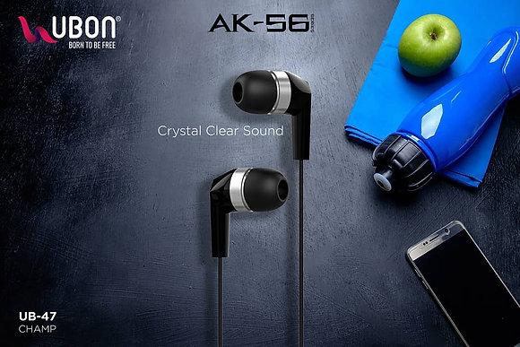 Ubon UB- 47 AK56 Series Super Bass Earphone