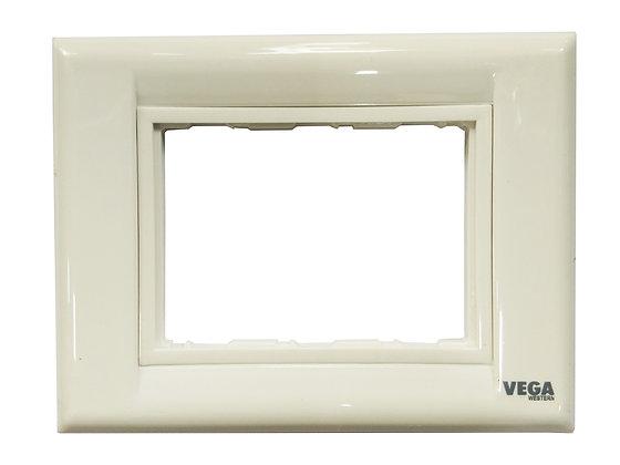 Western Vega Modular Plate 3 Module Plate CENTA [ISI] (1Box-2Pcs)