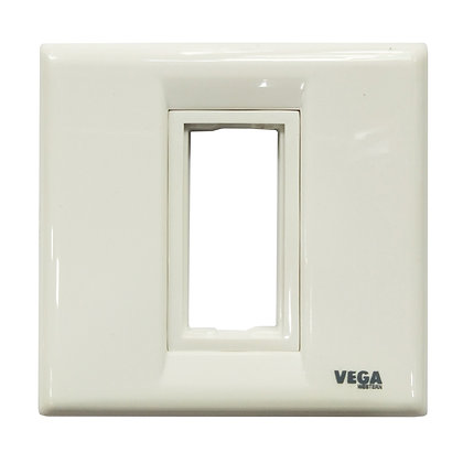 Western Vega Modular Plate 1 Module Plate CENTA [ISI] (1Box-3Pcs.)
