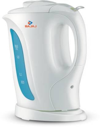 Bajaj Cordless Electric Kettle  (1 L, White)