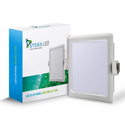 Syska SSK-RDL-S-12W LED Slim Panel Light (Cool Day Light)