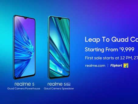 Realme 5 pro and Realme 5 launched in India; full specifications, features and price in india