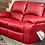 Thumbnail: Calgan 2 Seater Static Leather Upper Couch