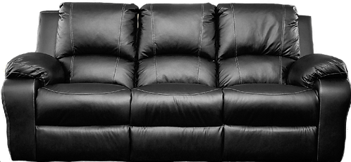 Calgan 3 Seater Static Leather Upper Couch