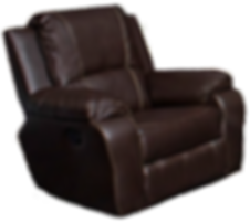 100% leather upper armchair