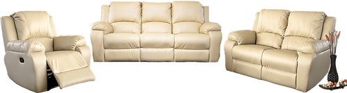 Calgan 1 Action 3/2/1 Recliner Leather Upper Set