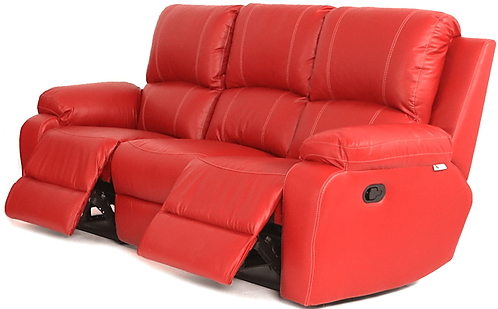 Calgan 3 Seater Recliner Leather Upper Couch