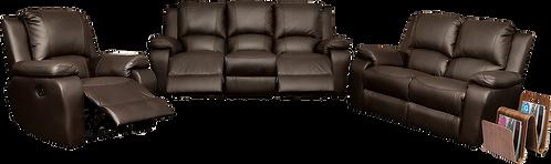 Calgan 3 Action 3/2/1 Recliner Full Leather Set