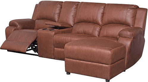 Calgan 4 Section 1 Action Recliner Fabric Couch