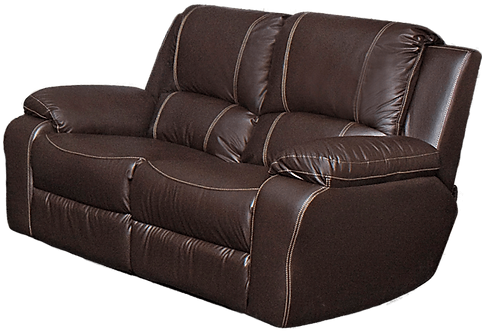 Calgan 2 Seater Static Leather Upper Couch