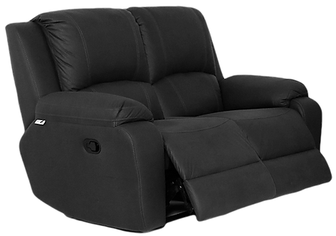 Calgan 2 Seater Recliner Fabric Couch