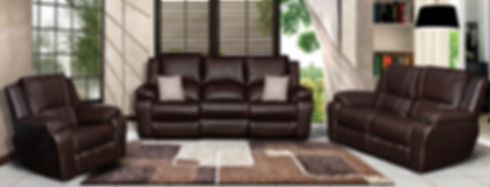 Full grain 100% leather lounge suite