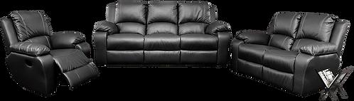 Calgan 1 Action 3/2/1 Recliner Full Leather Set