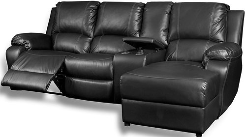 Calgan 4 Section 1 Action Recliner Full Leather Couch
