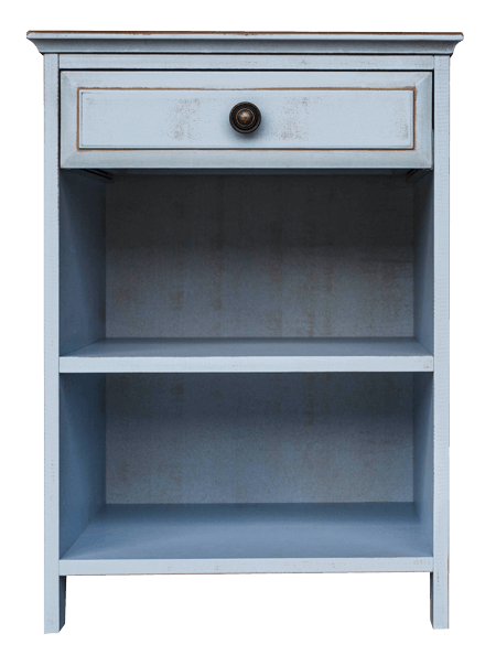 Adelaide Blue 1 Drawer Pedestal