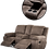 Thumbnail: Calgan 2 Seater Recliner + Console Fabric Couch