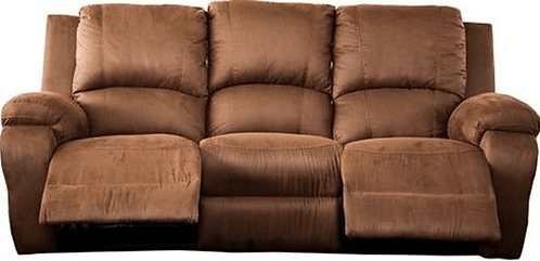 Calgan 3 Seater Recliner Fabric Couch