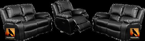 Calgan 1 Action 2/2/1 Recliner Full Leather Set
