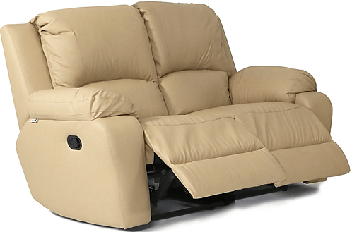 Calgan 2 Seater Recliner Leather Upper Couch