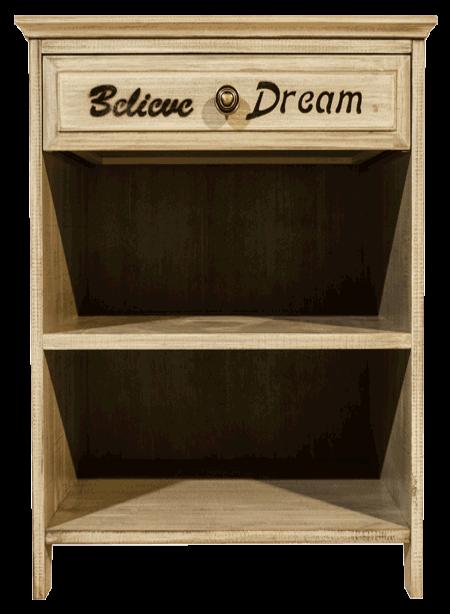 Vintage Believe 1 Drawer Pedestal
