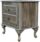 pedestal, bedside table, 2 drawers, night stand, wood, classic style, qeen ann legs