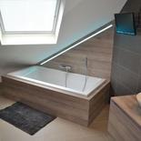 Houten badkamermeubel op maat in eik