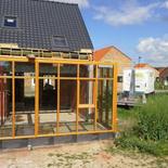veranda hout en glas