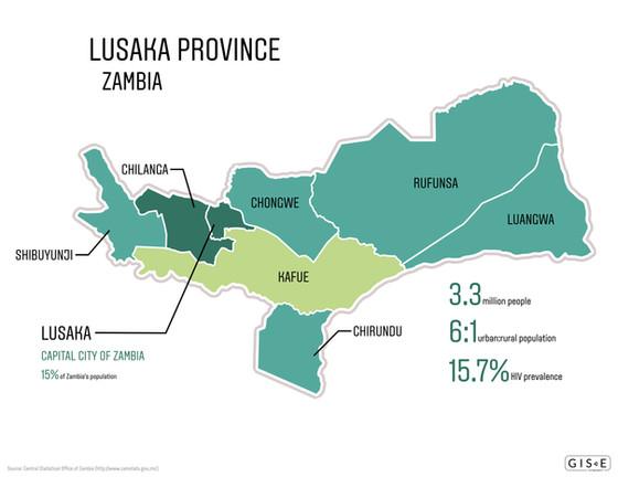 Location map - Lusaka Province, Zambia