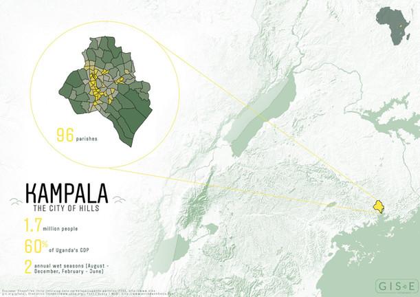 Location map - Kampala, Uganda