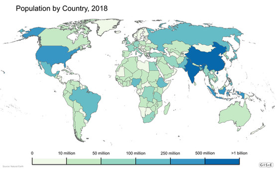 Population by Country, 2018