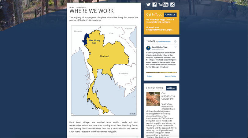 Example location map on the Karen Hilltribes website
