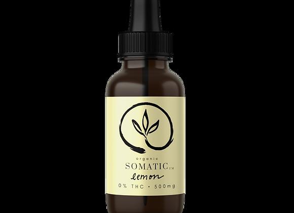 500mg Organic Lemon Tincture (0% THC, 30ml Bottle)