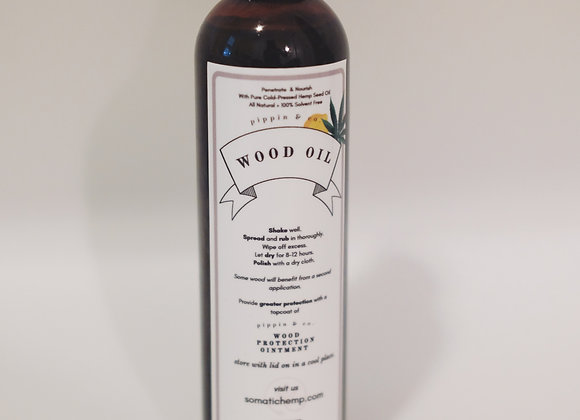 All Natural Hemp Oil Treatment for Wood Restoration and Protection