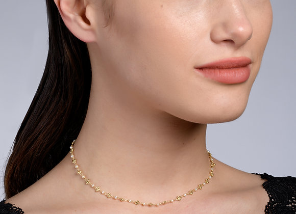 Gal Pearl Gold Necklace