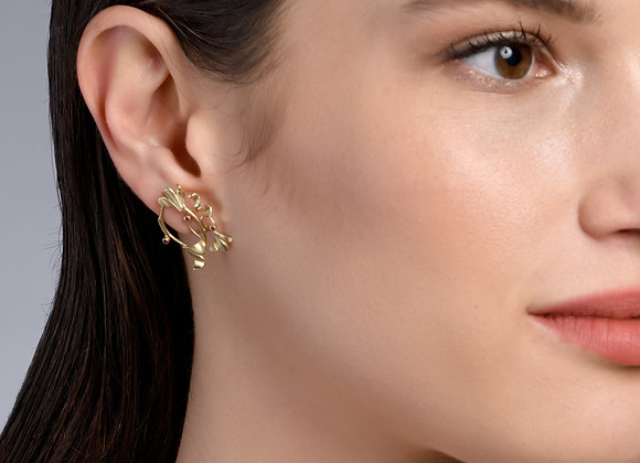 Anna Ruby and Gold Earrings