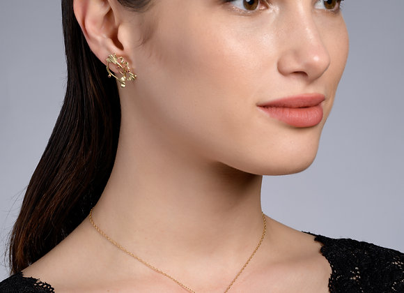 Anna Ruby Gold Necklace