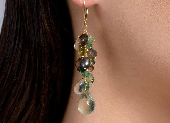 Meadow Cluster Eshkoll Gold Earrings