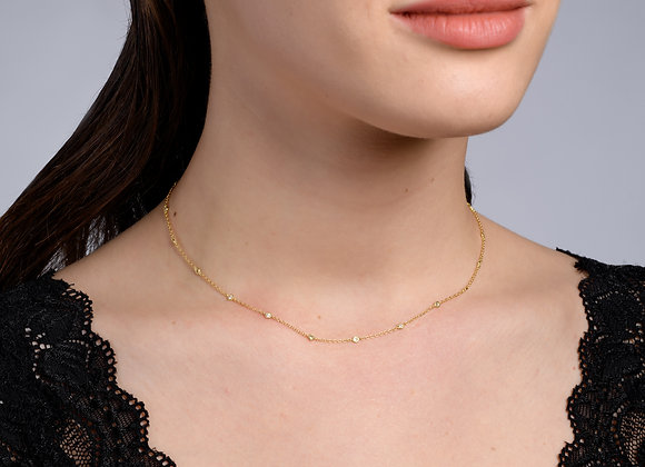 Abigail Diamond and Gold Necklace
