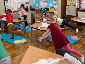Kindergartners Love Yoga!