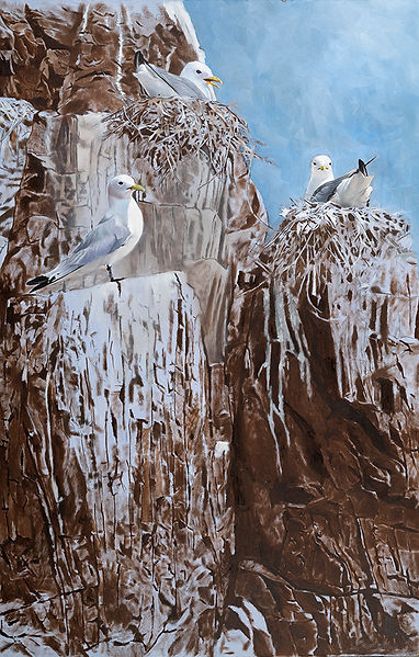 Kittiwake painting