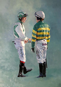 JP Mcmanus Racing Colours. AP McCoy,Sam Twiston-Davies