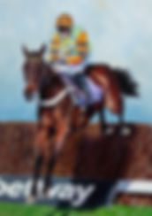 Painting of racehorse Might Bite