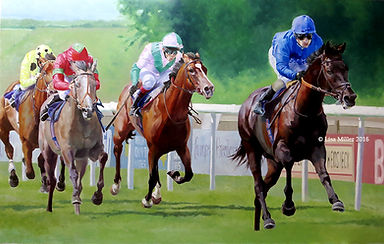 Horses racing at Newmarket
