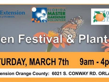 UF IFAS Extension 2020 Spring Plant and Garden Festival - Saturday, March 7, 2020