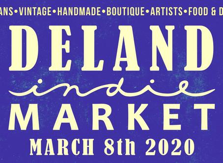 DeLand Indie Market Spring Edition - Sunday, March 8, 2020