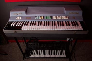Farfisa organ & Korg Delta