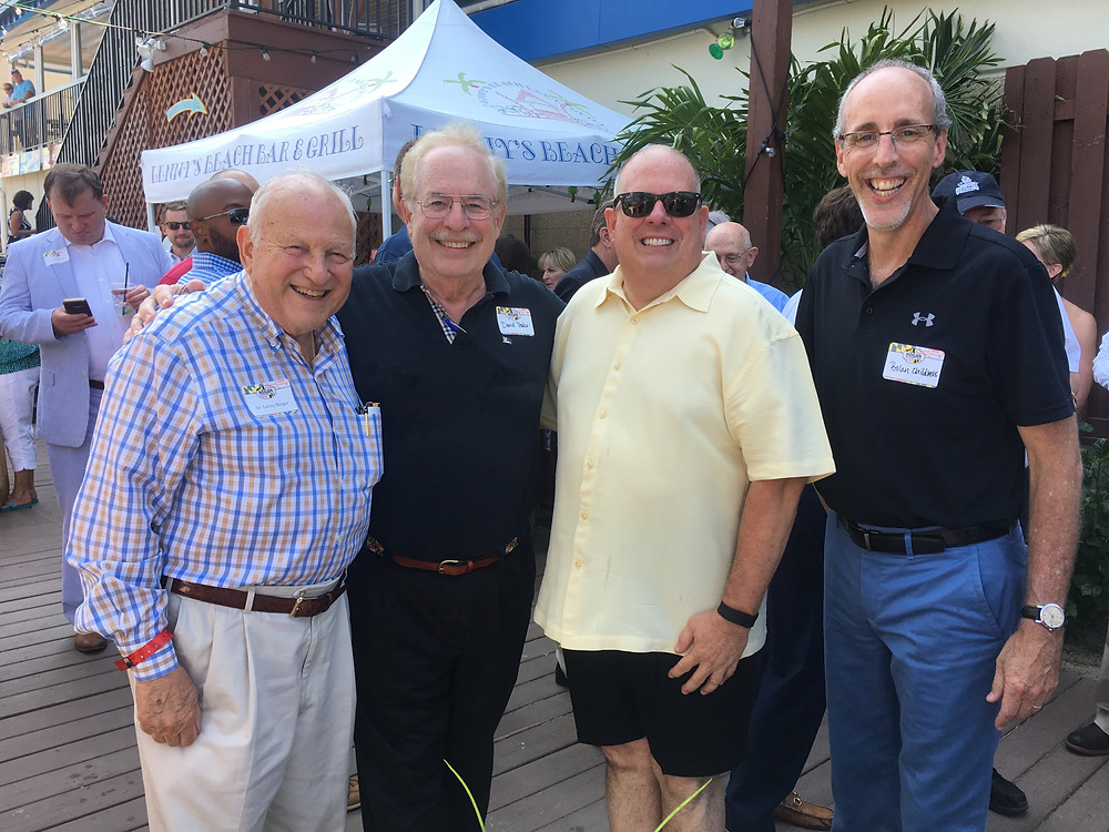 From left to right: Dr. Leonard Berger, David Thaler, Governor Larry Hogan, and Brian Childress