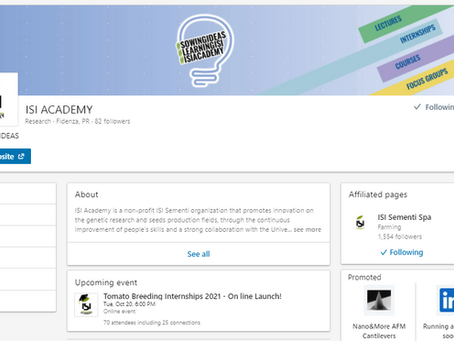 LinkedIN page of ISI Academy