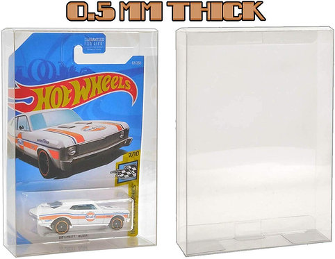 MALKO Hot Wheels Protector Display Case for Mainline Die Cast Cars - 0.5 mm Thic